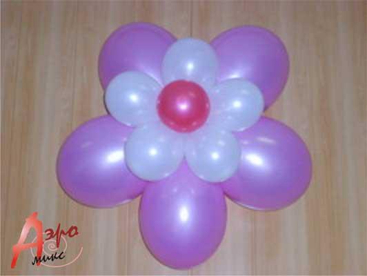 Сделать цветы из круглых шаров своими руками